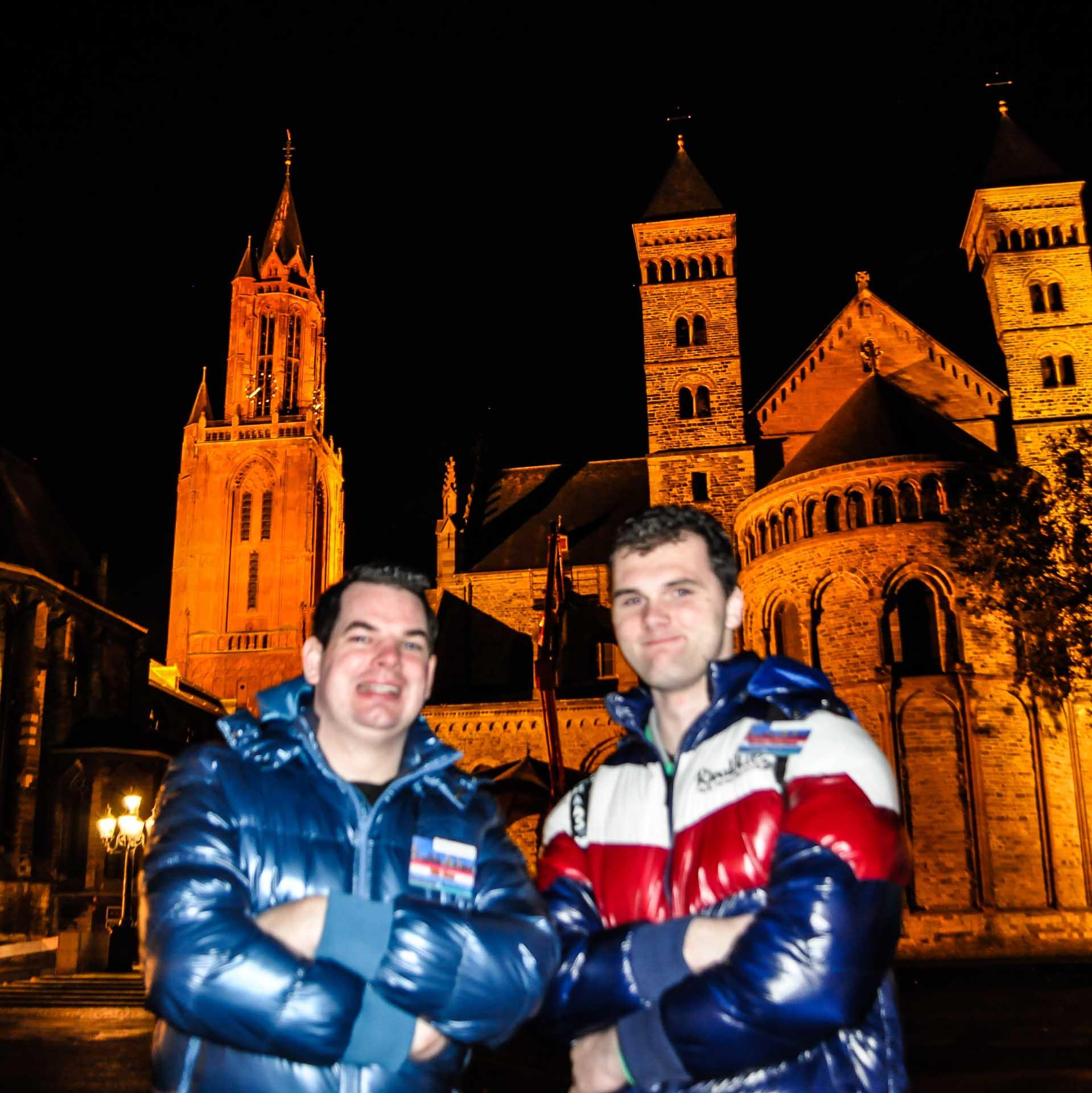 Vrijthof Maastricht bij Nacht