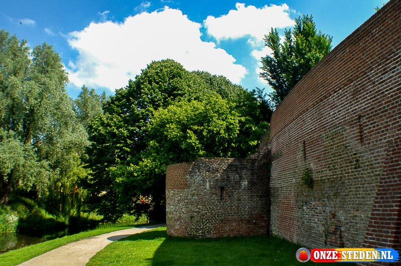 De oude stadsmuur van Amersfoort
