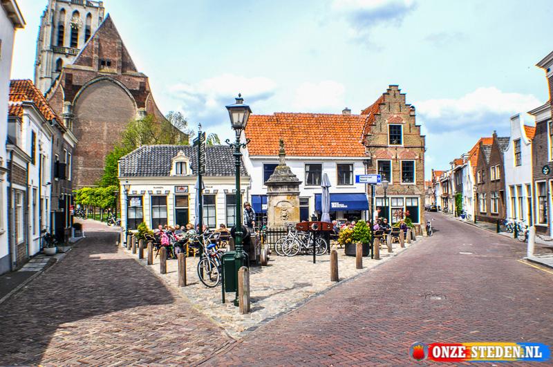 Pleintje aan de Koopmansstraat in Brielle