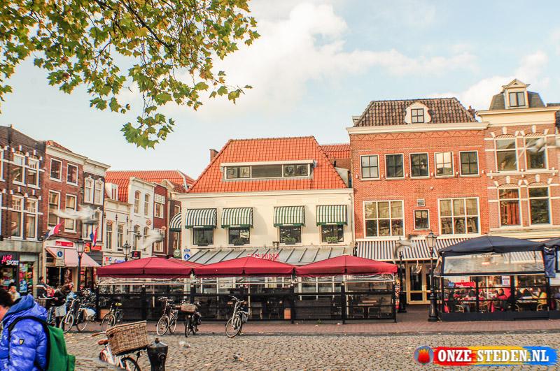 Terrassen aan de Markt in Gouda