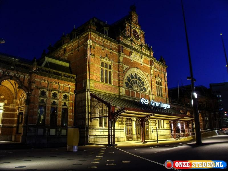 Het Centraal Station van Groningen