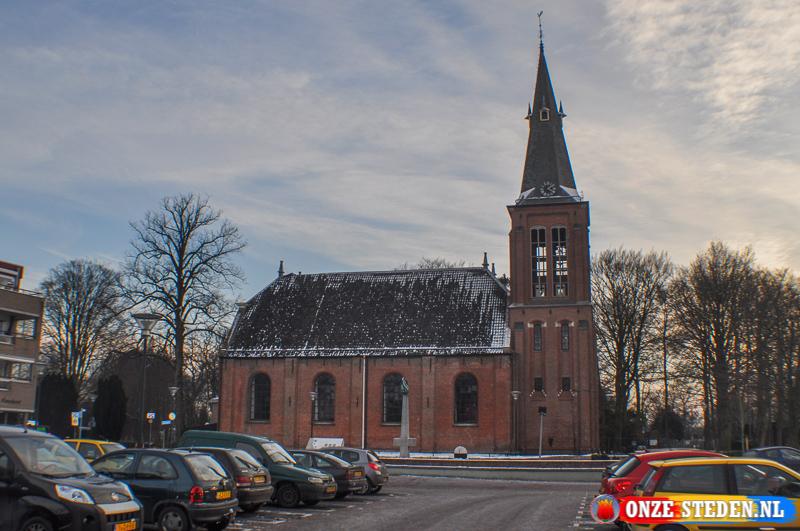 Het Kerkplein in Veendam